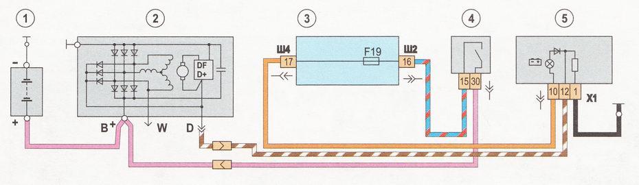 Схема генератора 21099 инжектор